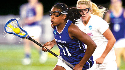 Northwestern Women's lacrosse player