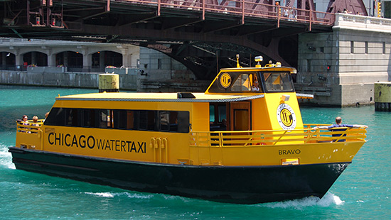 A photo of the Chicago Water Taxi
