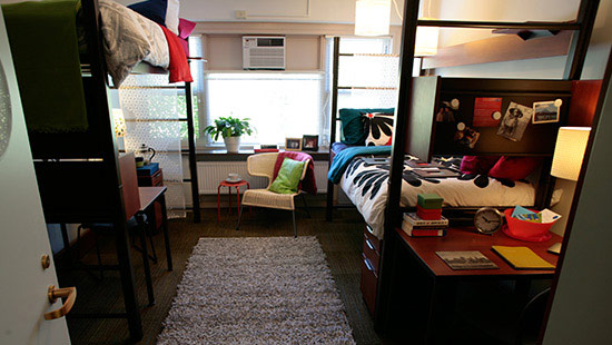 Inside of student's dorm room