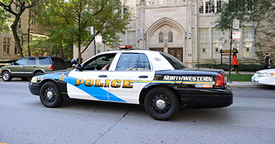Picture of Northwestern Campus Police car